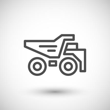 dumper: Dumper line icon isolated on grey. illustration
