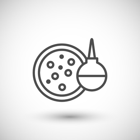 medical test: Medical test icon isolated on grey. Vector illustration