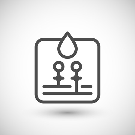 water supply: Water supply line icon isolated on grey. Vector illustration Illustration