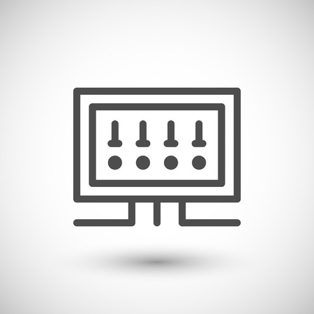 67482623 fusebox line icon isolated on grey vector illustration?ver=6 303 fuse box cliparts, stock vector and royalty free fuse box fuse box symbols at fashall.co