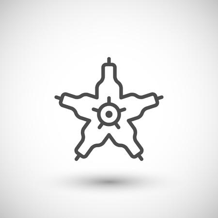 microbio: icono de la línea microbio aislado en gris. ilustración vectorial