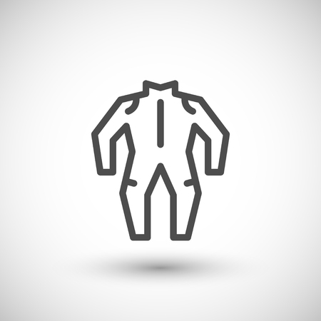 dirt bike: Motorcycle suit line icon isolated on grey. Vector illustration Illustration