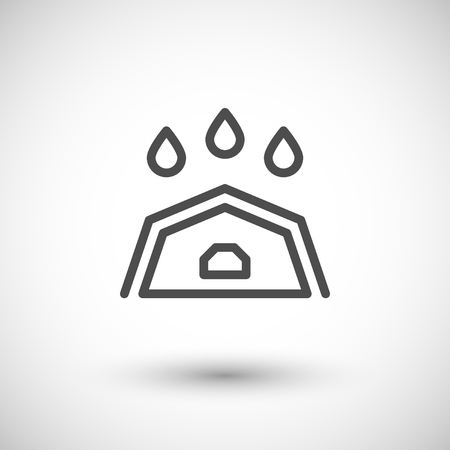 roof line: Roof line icon isolated on grey. Vector illustration Illustration