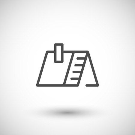 roofing: Roof line icon isolated on grey. Vector illustration Illustration
