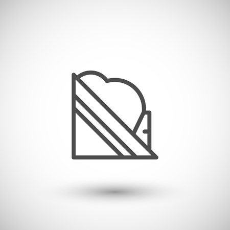 roof construction: Snow guard line icon isolated on grey. Vector illustration