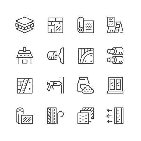 Set lijn iconen van isolatie geïsoleerd op wit. Vector illustratie Vector Illustratie