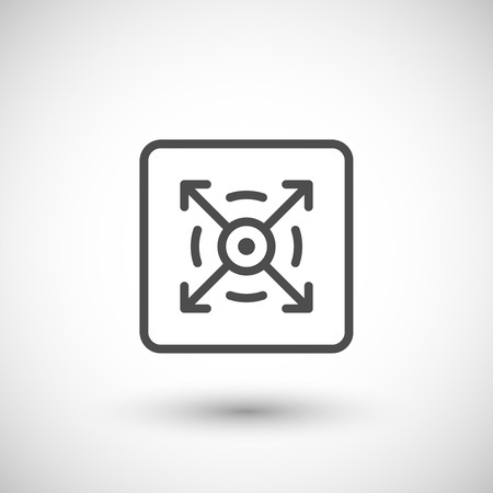 three dimensional: Three dimensional line icon isolated on grey. Vector illustration