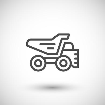 dump truck: Dump truck line icon