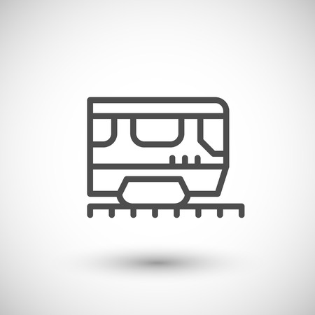 street symbols: Train line icon Illustration