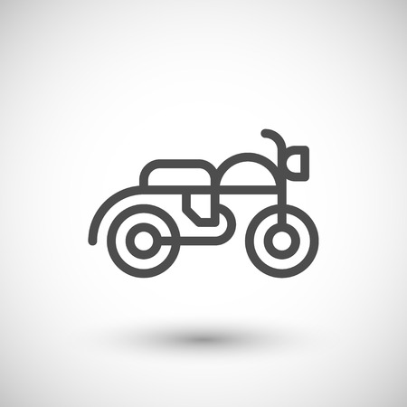 line: Motorcycle line icon Illustration
