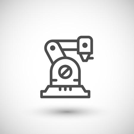 Robotic arm line icon  イラスト・ベクター素材