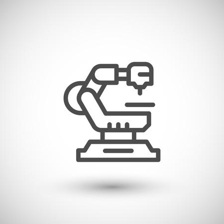 robotic: Robotic machine line icon Illustration