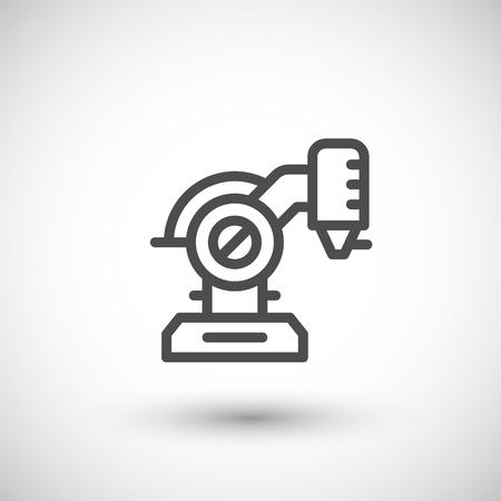 robotic: Robotic machine part line icon
