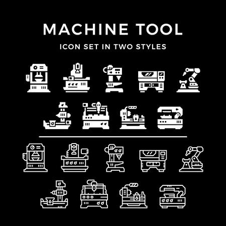 Establecer iconos de la máquina herramienta
