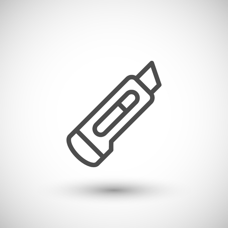 office tool: Stationery knife line icon Illustration