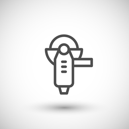 angle grinder: Angle grinder line icon