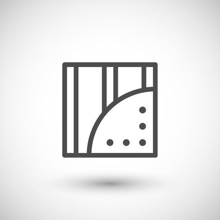 wallboard: Gypsum plasterboard line icon