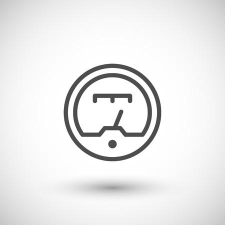 electricidad industrial: Icono de línea del indicador Vectores