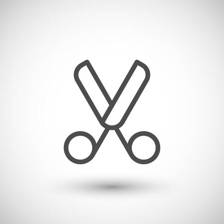 scissors icon: Scissors line icon