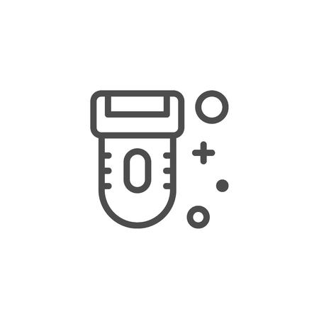 Epilator Liniensymbol. Vektorgrafik