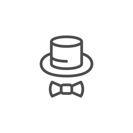 tophat: Top hat line icon