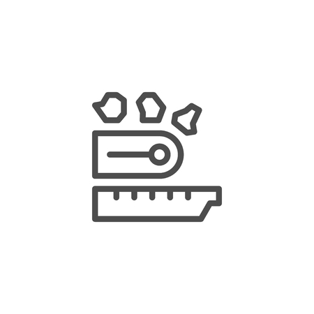 mineral stone: Industrial conveyor line icon