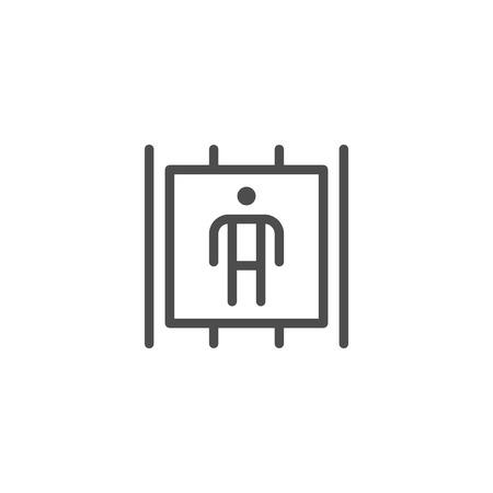 passenger transportation: Passenger lift icon