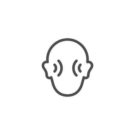 auditory: Human hearing line icon