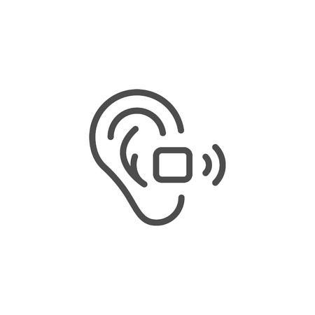 hearing aid: Hearing aid line icon Illustration