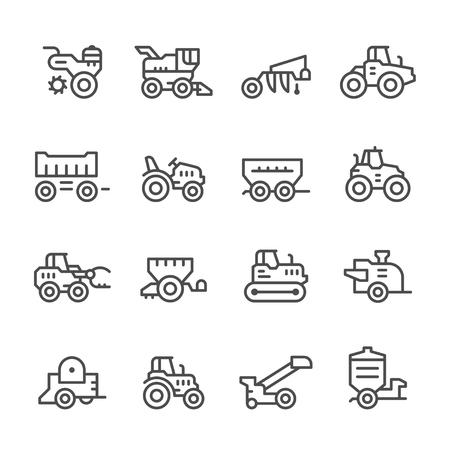 Impostare le icone delle linee di macchine agricole