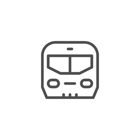 Trein lijn icoon Vector Illustratie