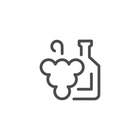 agriculture industry: Winemaking line icon