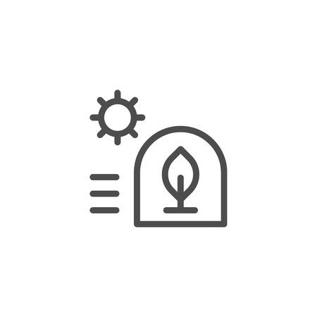 Greenhouse lijn icoon Stock Illustratie