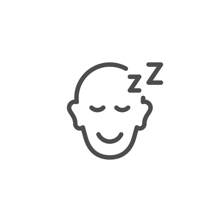 people sleeping: Sleeping person line icon