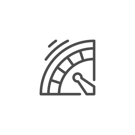wheel of fortune: Roulette line icon isolated on white. Vector illustration
