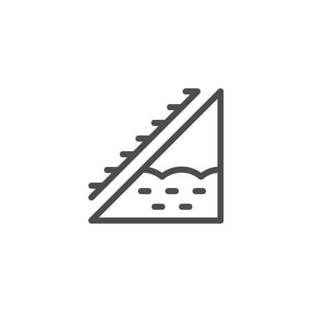 Attic insulation line icon Stock Photo