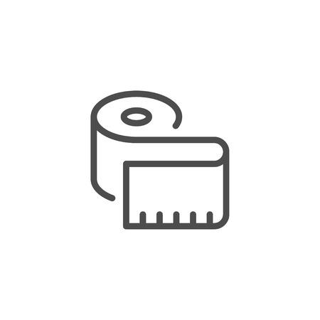 Measuring tape line icon Illustration