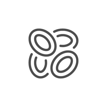 junk: Onion rings line icon