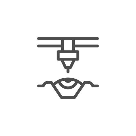 Laser vision correction line icon