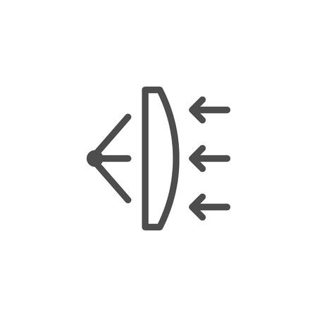 Lens scheme line icon