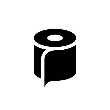 toilet: Toilet paper icon