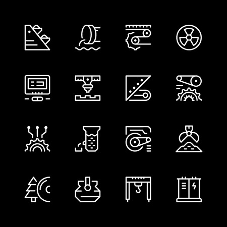 Set line icons of industry. Illustration