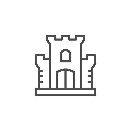 Castle line icon