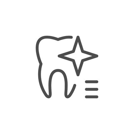 Teeth whitening icon illustration. Illustration
