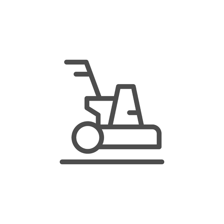 Cleaning machine line icon Illustration