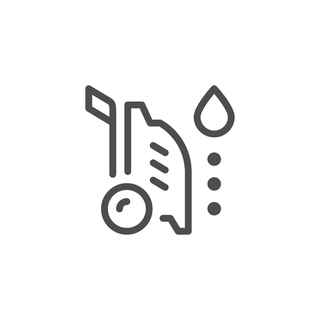 High pressure washer line icon Illustration