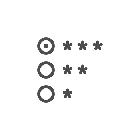Rating line icon using star Illustration