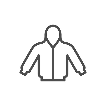 Hoodie line icon isolated on white. Vector illustration Illustration