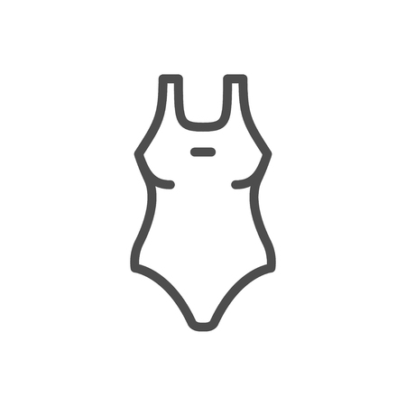 Female swimwear line icon.