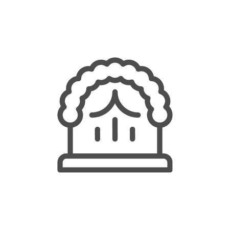 Wedding arch line icon Illustration